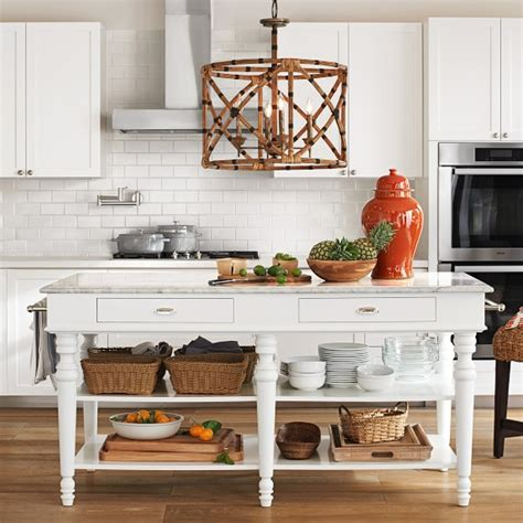 larkspur marble top kitchen island williams sonoma