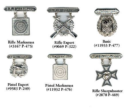 marine corps marksmanship badges  images