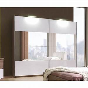 armoire de chambre a coucher cali avec miroir 2m achat With miroir chambre a coucher