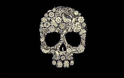 Skull Gothic Rose Background Wallpapers Flowers Simple