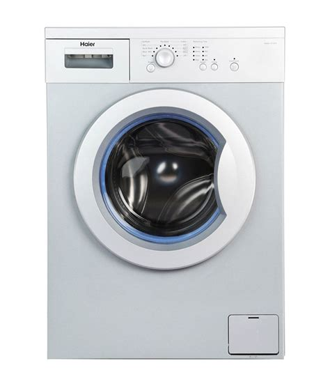 haier washing machine haier 6 kg hw60 1010as fully automatic front load washing machine grey price in india buy