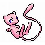 Pixel Mew Pokemon Clipart Sprites Mewtwo Grid