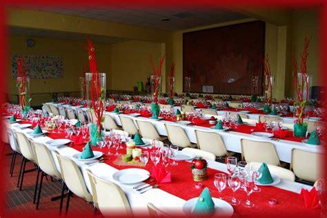 decoration table de noel vert et