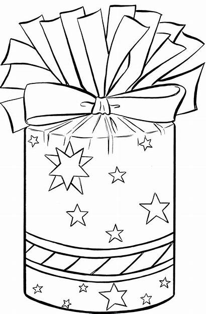 Christmas Clip Present Clipart Birthday Presents Coloring