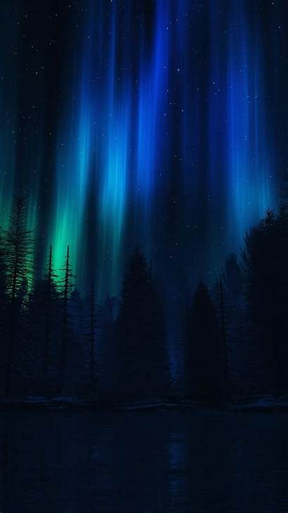 Iphone Aurora Dark Sky Night Wallpapers Nature
