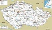 Czech Republic Map - ToursMaps.com
