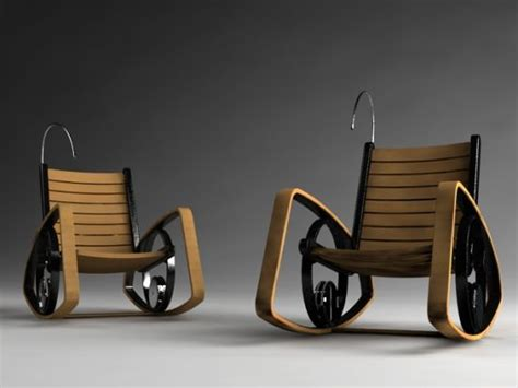 electric rocking chair with kinetic energy by shawn