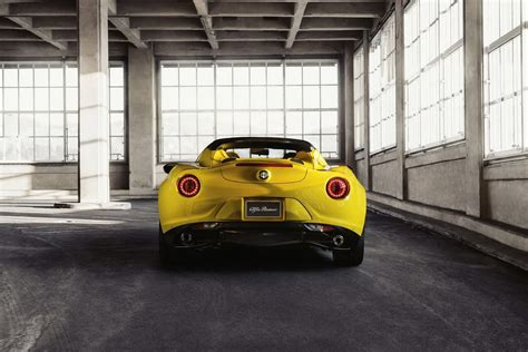 Alfa Romeo 4c Spider Makes Online Debut In Giallo Yellow