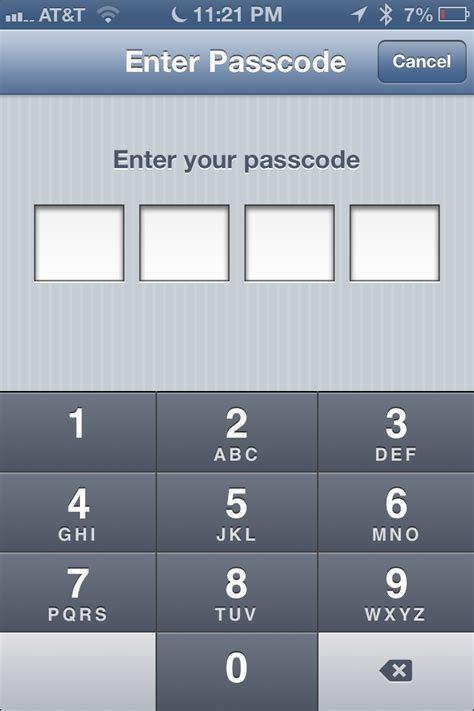 iphone password how to set passcode lock with delay on iphone mini