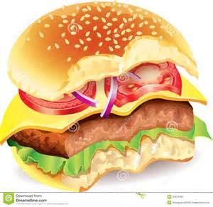 Bitten Hamburger Clip Art
