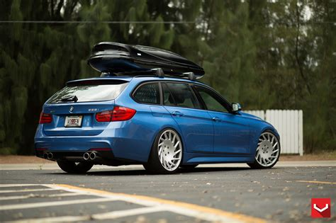 bmw  sports wagon  vossen wheels