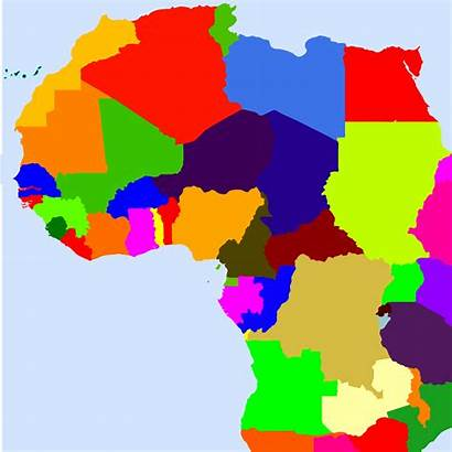 Map African Africa Clipart Countries Svg Clip