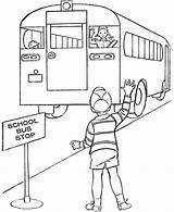 Bus Coloring Sheet Station Printable Stop Safety Cartoon Driver Tags Buses Sheets Template Places Printables Popular Raisingourkids Children Library Clipart sketch template