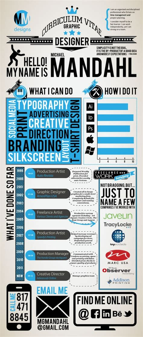 mandahl infographic resume bestinfographics co