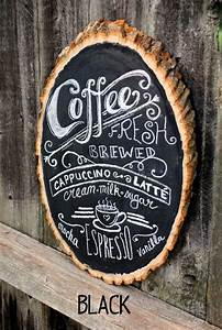 rustic chalkboard coffee bar sign coffee bar ideas With rustic sign lettering