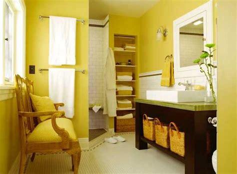 modern bathroom ideas adding sunny yellow accents