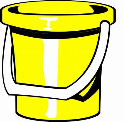 Clip Bucket Clipart Yellow Pail Ember Water