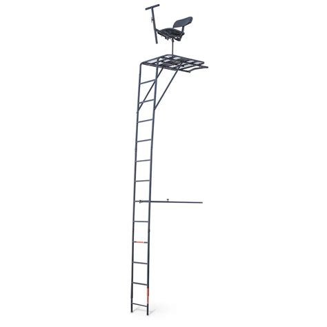 guide gear 174 17 deluxe 360 degree swivel seat ladder tree stand 158971 ladder tree stands at