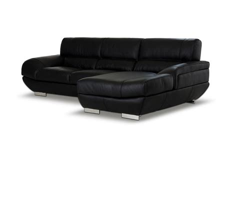 black leather sectional with ottoman dreamfurniture com alfred modern black leather