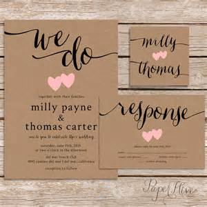 wedding invitation paper rustic wedding invitation kraft paper wedding by paperhive