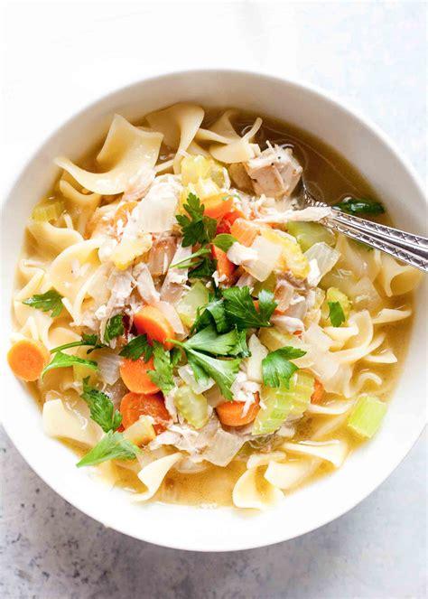 rotisserie chicken noodle soup recipe simplyrecipescom