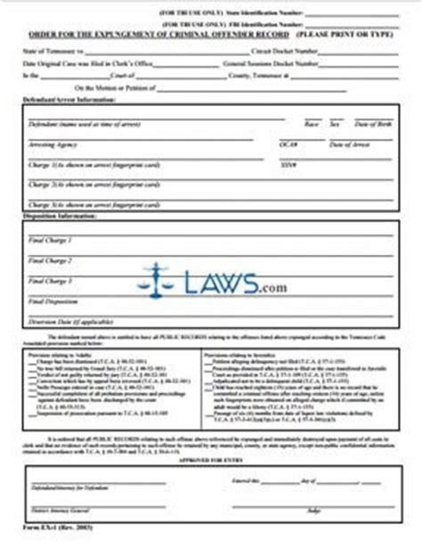 order  expungement  criminal offender record