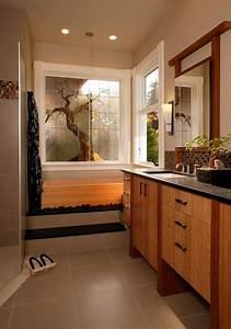 decoration salle de bain zen creer le coin relax ideal With salle de bain design avec décoration personnalisée anniversaire