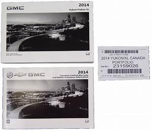 2014 Gmc Yukon  U0026 Yukon Xl Owners Manual Booklet New Canada