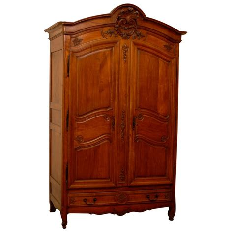 Armoire Cherry by 19th Century Cherry Wood Armoire With 4 Drawers At