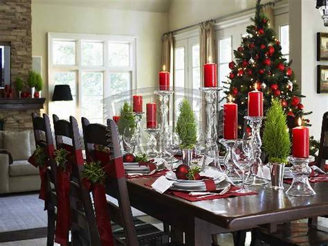 decoration christmas dining room table decorations