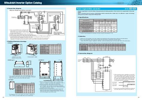 Wiring Diagram Inverter Mitsubishi by Catalog Inverter Option Mitsubishi Electric Beeteco