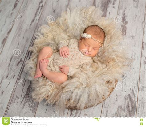 Lovely Sleeping Baby After Breast Feeding In Mothers Arms