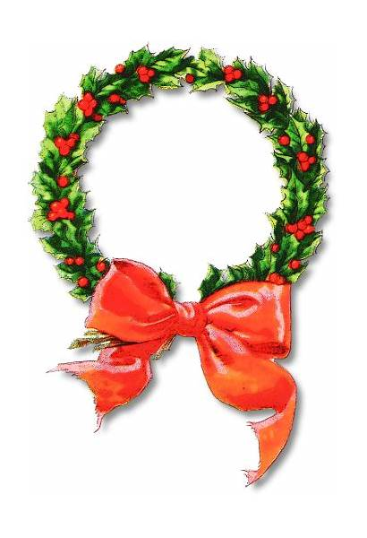 Wreath Christmas Clip Clipart Wreaths Frame Holiday