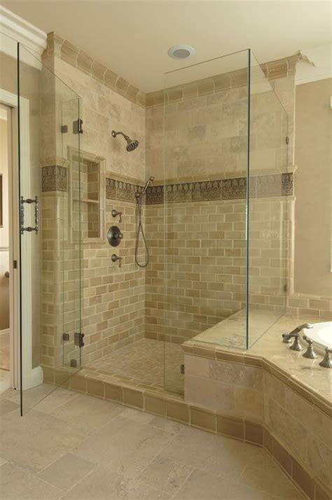 accent tile in shower another exle of shower bench joining tub surround note the tile accent in the shower and