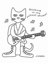 Coloring Shoes Pete Cat Pages Activities Preschool Printables Cats Rocking Kindergarten Crafts Template Books Pet Makinglearningfun Fun Adult Comments Visit sketch template