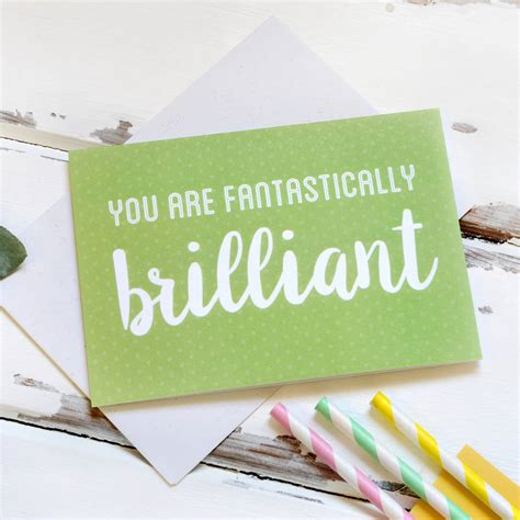 you are fantastically brilliant card by clara and macy ...