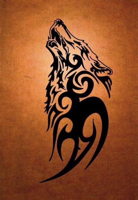 tribal loup black tattoo design  tattoo designs