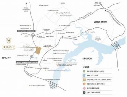 Location Eco Map Botanic Johor Singapore Ecoworld
