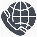 Call Icon International Globe Communication Receiver Global