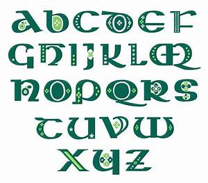 Styles Embroidery Font: St Patty's Celtic Font from ...