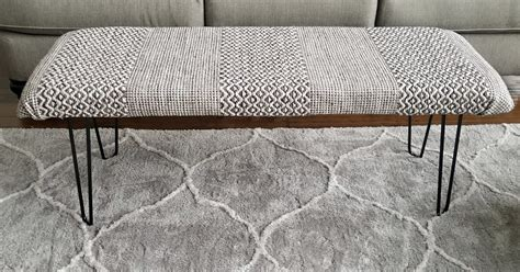 How To Make An Ottoman Out Of A Table by How To Make A Diy Bench Ottoman Out Of A Rug And Hairpin