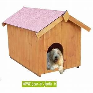Niche Petit Chien : niche pour petit chien de 60x98cm niche bois ~ Melissatoandfro.com Idées de Décoration