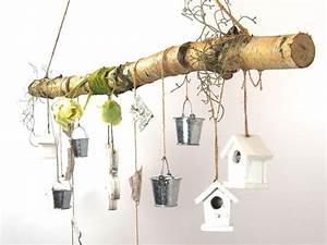 Deko Ast Zum Aufhängen : creatina ast aus birkenholz zum aufh ngen mit holzblume ~ Michelbontemps.com Haus und Dekorationen