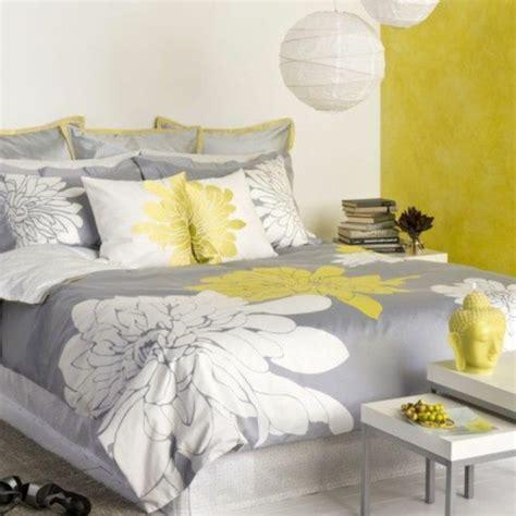 chambre jaune et gris décoration chambre gris et jaune