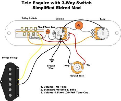 import 3 way in esquire eldred mod telecaster guitar forum