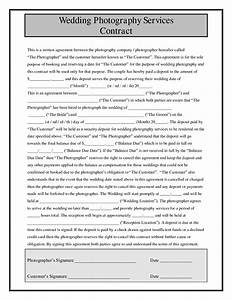 Wedding photography contract format for Contract for wedding photography services