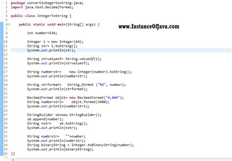 java string template 8 different ways to convert int to string in java instanceofjava