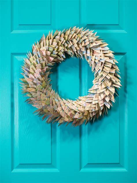 paper magnolia leaf wreath hgtv