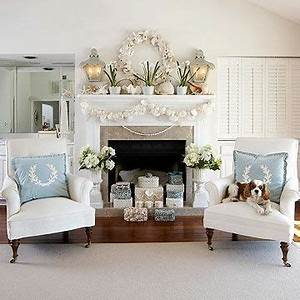In this living room handmade shell boxes fill the
