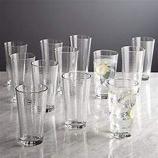 Set Of 12 Rings Cooler Glasses  Crate And Barrel
